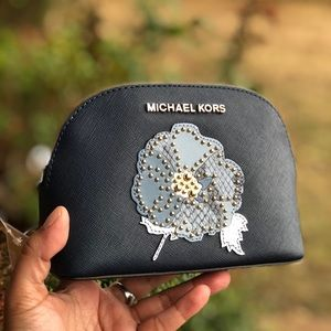 Michael kors jet set Large travel pouch leather
